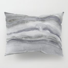 Watercolor Agate in Gray Pillow Sham