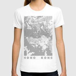 Hong Kong Map Line T-shirt
