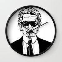 karl lagerfeld Wall Clocks featuring Uncle Karl Lagerfeld by Thompson ET Julienne