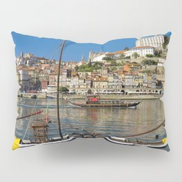 Port wine barges on the Douro, Porto Pillow Sham