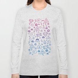 Cute & Sweet Monsters / Funny Clouds and Diamonds Long Sleeve T-shirt