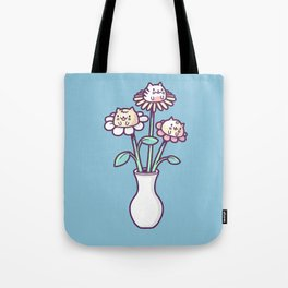 Flower felines Tote Bag