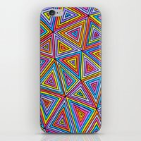 triangle iPhone & iPod Skins featuring Triangle by Neon Wonderland