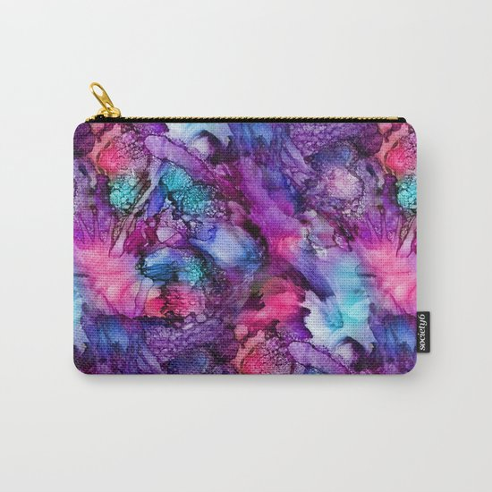 Glowing Purple Abstract Carry-All Pouch