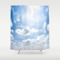 cloud Shower Curtains featuring cloud by kiyohiro tsushima