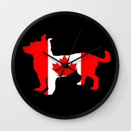 Canada Chihuahua Wall Clock