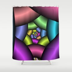 looking inward Shower Curtain