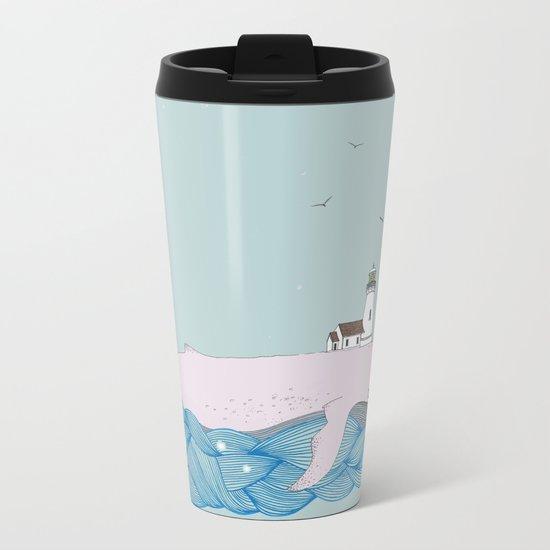 Whale beacon Metal Travel Mug