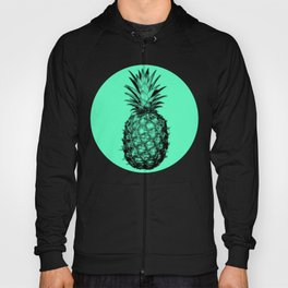 Pineapple! Black on mint green Hoody