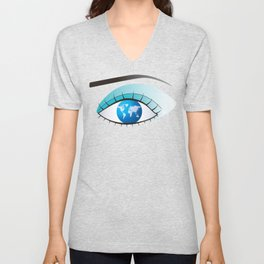 Eye to watch the world Unisex V-Neck