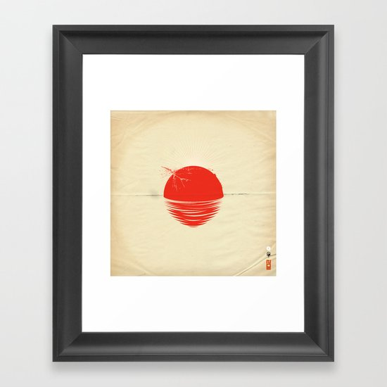 """Japan relief poster/all proceeds will go to """"Peace Winds"""" Framed Art Print"""