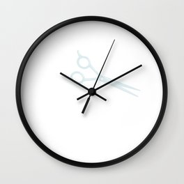 Womens Hairdresser Gift Salon Hairstylist Runs With Scissors Print Wall Clock