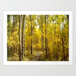 May the Trail be Your Guide Art Print