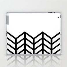 BLACK & WHITE LACE CHEVRON Laptop & iPad Skin