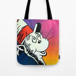Portrait of a Cat in a Hat Tote Bag