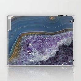 Amethyst Geode Agate Laptop & iPad Skin