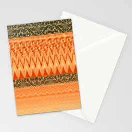 crochet mixed with lace in warm mood Stationery Cards