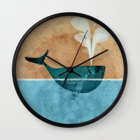 moby Wall Clocks featuring moby by John Beswick
