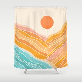 Adventure On The Horizon / Abstract Landscape Shower Curtain