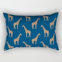Giraffe african safari basic pattern print animal lover nursery dorm college home decor Rectangular Pillow