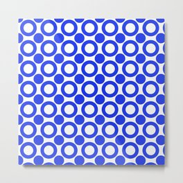 Dot 2 Blue Metal Print