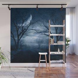 A Dark & Foggy Night Wall Mural