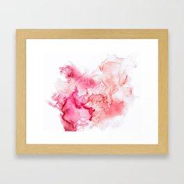 Red fog Framed Art Print