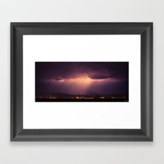 Over the Mountain Framed Art Print