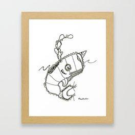 Funky Narwahl Framed Art Print