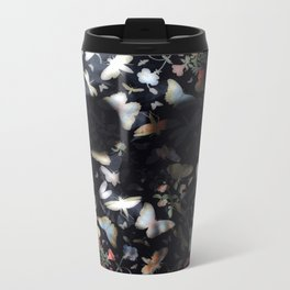 Butterfly And Skull Metal Travel Mug