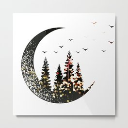 Half Moon forest Metal Print