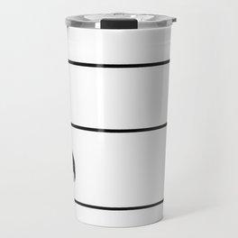 Minimalist Diving Bird Travel Mug