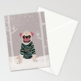 Mops. Stationery Cards