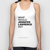 jennifer lawrence Tank Tops featuring What would Jennifer Lawrence do? by Celebgate
