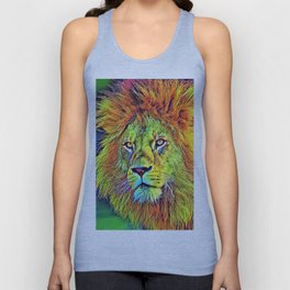 AnimalColor_Lion_009_by_JAMColors Unisex Tank Top