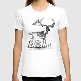 Gas Mask Deer T-shirt