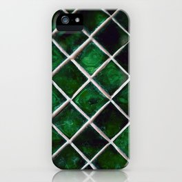 Emerald Pattern iPhone Case
