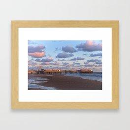 Blackpool Central Pier Sunset Framed Art Print