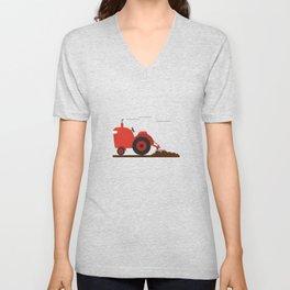 Jon's tractor Unisex V-Neck