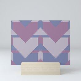 Violet Directions #society6 #violet #pattern Mini Art Print
