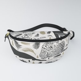 Wild Cats and Botanicals Fanny Pack
