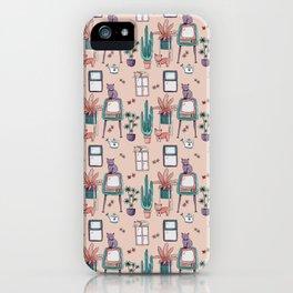 Indoors&Cats iPhone Case