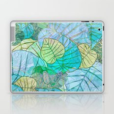 Leaves in Rosy Background 2 Laptop & iPad Skin