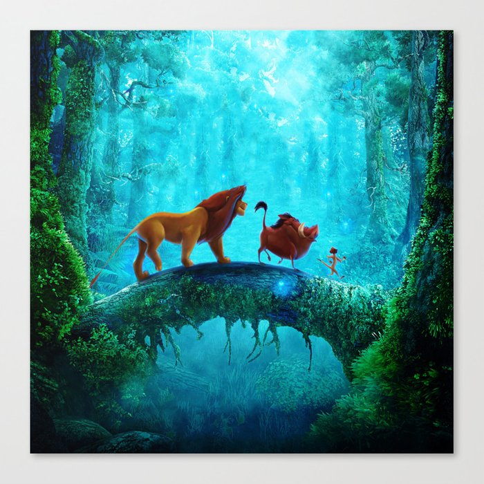 King Of Jungle Canvas Print