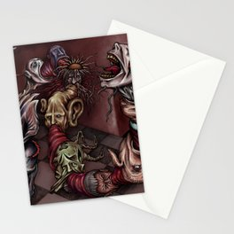 """Heads Vomit Heads"" Stationery Cards"