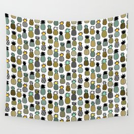 Geometric Pineapples Wall Tapestry