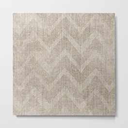 Chevron burlap (Hessian series 1 of 3) Metal Print
