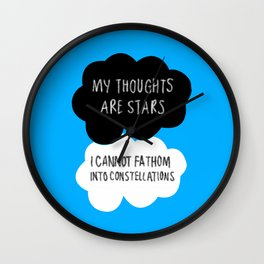 My Thoughts are Stars Wall Clock