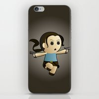 lara croft iPhone & iPod Skins featuring Geek Babies: Lara by Deanna Marie: Art & Design