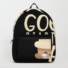 Good Days Start With Coffee Backpack